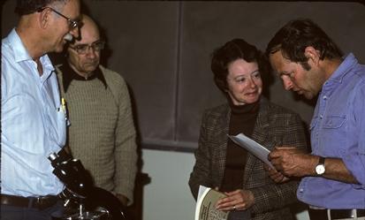 Figure 20. Herold Treibs, Gene Butler, Dr. Nancy Smith Weber and Buck McAdoo