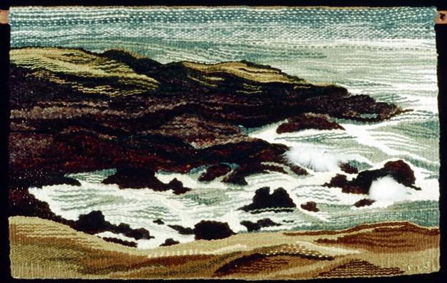 Ocean fiber art by Tigerlily Jones